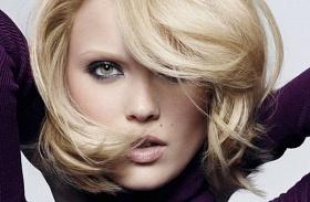 Középhosszú frizura vékony szálú hajból