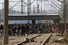 Bevándorlók a macedón határon