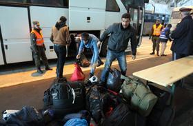 Bevándorlók osztrák határ