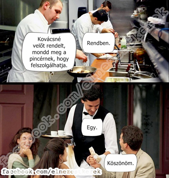 Kovácsné velőt rendelt = Kovács névelőt rendelt.