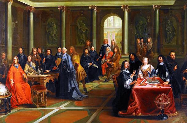 Krisztina Descartes-tal vitatkozik, Nils Forsberg festménye