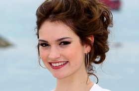 Lily James a Town and Countryban