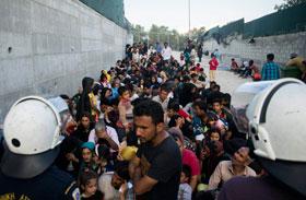 Menekültek Görögországban