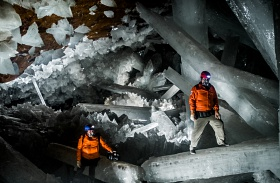 Idegen mikroba a naicai kristálybarlangban