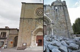 Olasz földrengésről képek