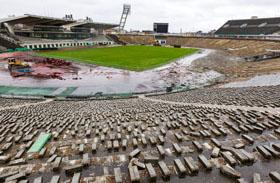 Puskás stadion bontása