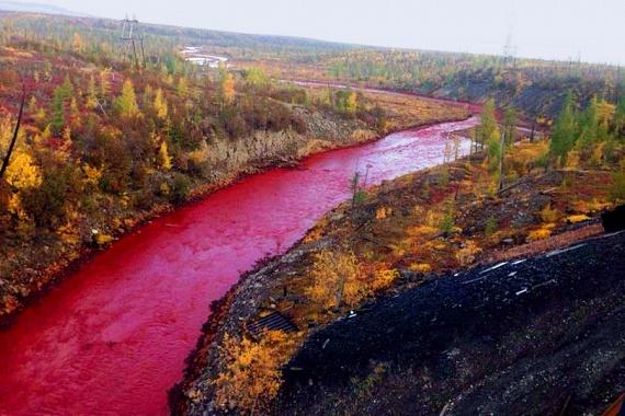 Így néz ki most a Daldikan: a norilszki nikkelüzem tagadja, hogy vegyszer került volna a vízbe, sőt, szerintük a folyónak mindig ilyen volt a színe.