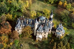 A kastély légifotója