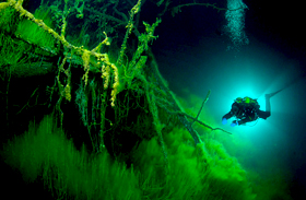 Rejtélyes Goluboe-tó Oroszországban
