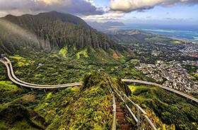 Haiku-lépcső Hawaii
