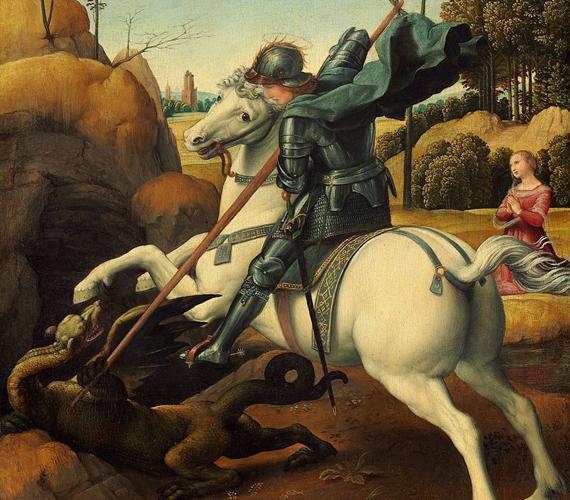 Egy másik monda szerint azonban a sárkány nem javult meg, ahogy az előző történetben, hanem mindvégig gonosz teremtés maradt. Egyes források szerint pedig nem is egy sárkány tartotta rettegésben a környéket, hanem egy egész kolónia! Ezekkel a szörnyetegekkel maga Szent György végzett a hegyen. A híres sárkányölő egyébként a 14 segítő szent egyike a keresztény hitben, alakja pedig azt a meggyőződést fejezi ki, hogy a hit legyőzi a gonosz minden formájának uralmát. A római korban vértanúhalált halt katona máig számos kultúrkör része.
