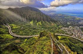 Haiku-lépcső Oahu sziget