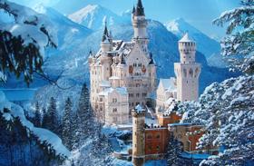 Neuschwanstein-kastély télen