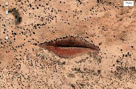 Nézd meg Isten száját: furcsa látvány a darfuri sivatagban