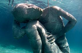 Ocean Atlas víz alatti szobor