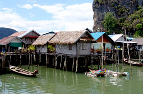 Phang Nga cigány halászfalu