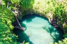 Természetes medence Szamoa