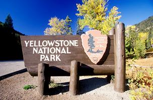A nemzeti park határát jelző tábla