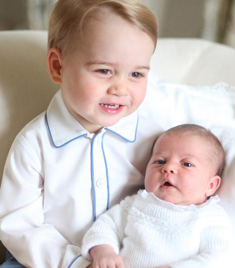 Cuki fotókon György herceg és Charlotte hercegnő