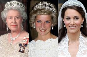Erzsébet királynő Diana Katalin egyforma ruha