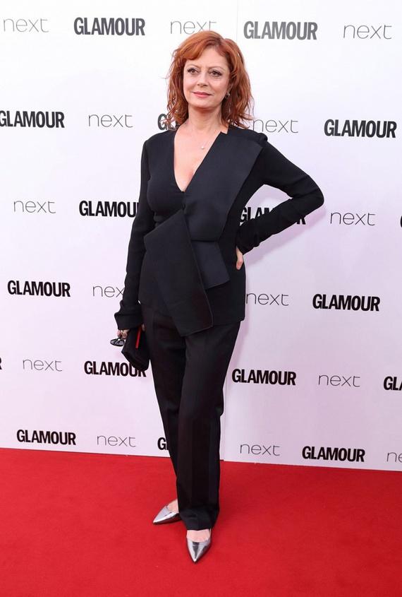 Susan Sarandon szokás szerint a kis fekete kosztümre voksolt. Remek választás volt: látszik, hogy tudja, mi áll jól rajta.