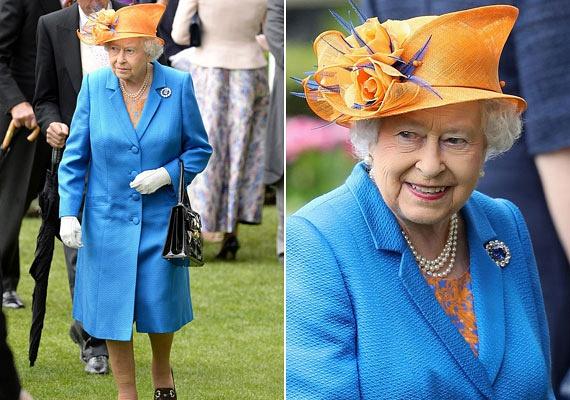 A 90 éves királynőt számos kreációban láthattuk az elmúlt napokban, a Royal Ascot lóverseny harmadik napján pedig ebben a bohém, narancsszínű kalapban és világoskék kabátban jelent meg. Lapozz tovább, és nézd meg, melyik kékvérűnek sikerült villantania!
