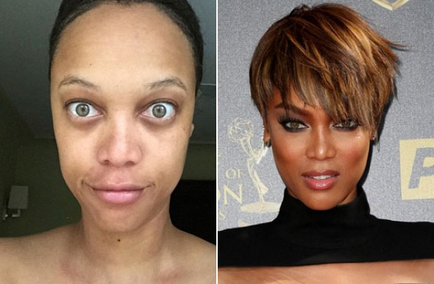 Tyra Banks modell gyakran posztol magáról ilyen és hasonló fotókat. Legalább ne csücsörítene vagy grimaszolna közben. A jobb oldali fotón a vörös szőnyegen, már talpig puccba vágva pózol a fotósoknak.