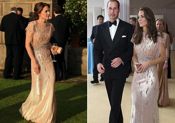 Érthető, hogy e miatt a gyönyörű púderszínű ruha miatt még Erzsébet királynő szabályaival is képes szembemenni. Ráadásul a ruha hatalmas érzelmi értékkel is bír, amellett, hogy Katalin lélegzetelállítóan fest benne.