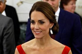 Katalin hercegné tűzpiros estélyi Kanada