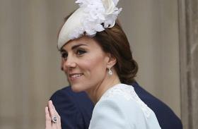 Katalin hercegné világoskék kabátruha