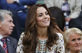 Katalin hercegné Wimbledon szurkol