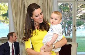 Katalin hercegnőről és György hercegről cuki fotók