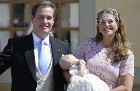 Leonore hercegnő, Madeleine hercegnő lányának keresztelője