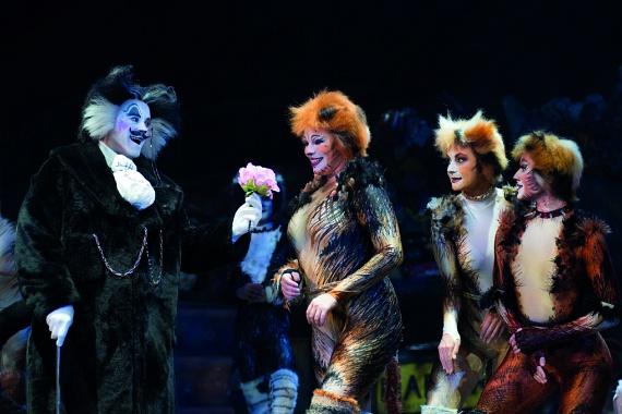 """A leghíresebb színpadi előadók közül sokan a CATS egy-egy szerepével kezdték sikereiket. Például Elaine Paige (Grizabella), Wayne Sleep (Mungojerrie), Bonnie Langford (Rumpleteazer), Paul Nicholas (Rum Tum tugger), Brian Blessed (""""régi Mózes""""), Sarah Brightman (Jemima), Rosemarie Ford (Bombalurina '&' Grizabella)."""