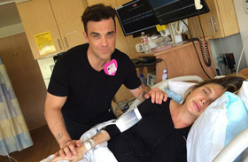 Robbie Williams fia megszületett