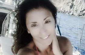 Sabrina Salerno bikiniben dekoltázs fotó