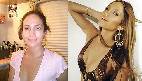 J-Lo előtte és utána...