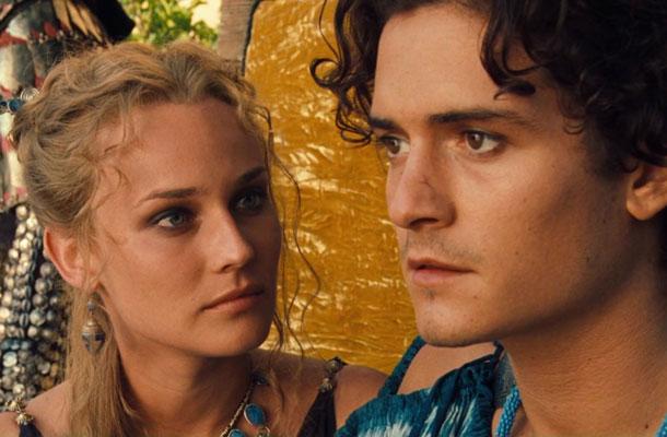 Diane Kruger és Orlando Bloom a Trója című film főszerepében