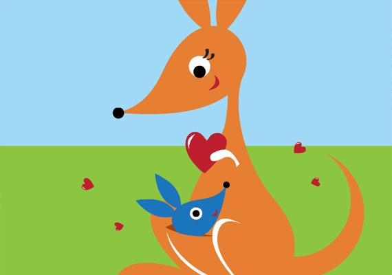A kenguruk remek példái anya és gyermek szoros kapcsolatának, nagyon aranyos, ahogyan a mama erszényéből előbukkan a bébi. Itt nézheted meg!