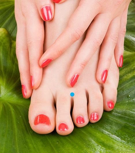 Gy-44  Ez a pont a második és a harmadik lábujj közötti úszóhártyán található. Kezelése segít a gyomorfájáson, a garat-és mandulagyulladáson, továbbá a fej-és fogfájáson.  Kapcsolódó cikk: Milyen típusú gyomorfájdalom milyen betegségre utal? »