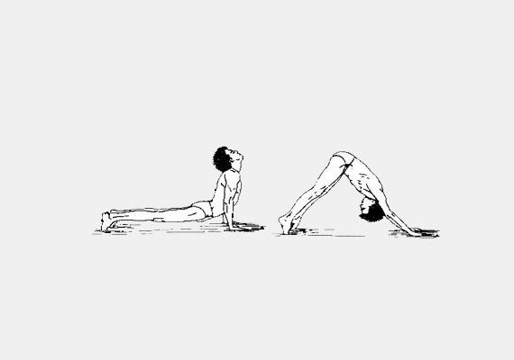 Helyezkedj el a fekvőtámaszhoz hasonló pózban: ereszkedj a talajra úgy, hogy csak a lábujjakon és a tenyéren támaszkodsz. A karok és a lábak legyenek kinyújtva. Belégzésre a fejed hajtsd hátra, majd emeld a csípőd a magasba addig, amíg tested egy fordított V-alakot nem vesz fel. Miközben visszatérsz a kiindulási helyzetbe, fújd ki a levegőt. Az ötödik tibeti gyakorlat javítja az immunrendszer működését, enyhíti a hátfájást, hatékony lehet szabálytalan menstruáció esetén.