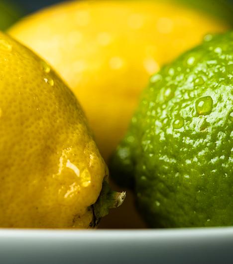 Citrom - P-vitamin  Nem csupán gazdag C-vitaminforrás, de rutin néven is ismert P-vitamint tartalmaz. Ez a vegyület csökkenti a hajszálerek áteresztőképességét, segíti a C-vitamin felszívódását, és megvédi az oxidációtól.