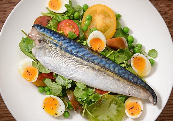 A makréla szintén nem az az étel, ami túl gyakran kerül a hazai étkezőasztalokra. 100 gramm belőle 352 NE D-vitamint tartalmaz.