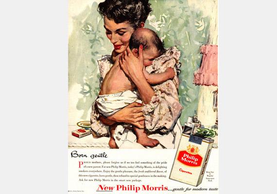 Szelídnek született. Ma valószínűleg sokaknál kiverné a biztosítékot egy babával reklámozott cigaretta.