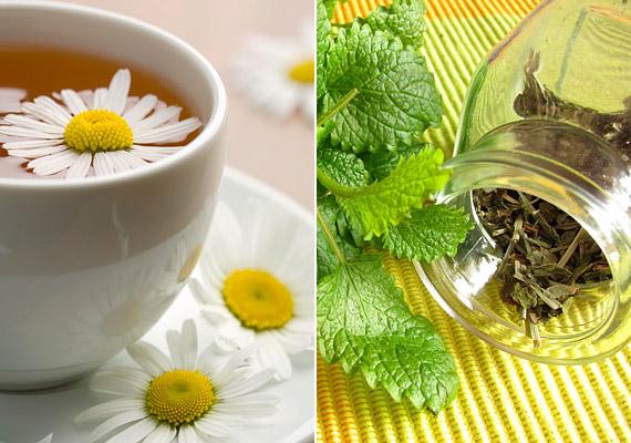 Érdemes bevetned olyan természetes nyugtató hatással bíró teákat, mint a kamilla vagy a citromfű. A kamilla ezt a tulajdonságát a benne lévő illóolajoknak - többek között a bisabololnak -, a citromfű pedig citráltartalmának köszönheti. Lefekvés előtt egy csésze bármelyik gyógynövény teájából megkönnyíti az elalvást, és megakadályozza az éjszakai felébredést.
