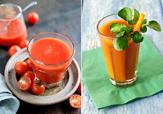 Ha unod már a gyógyteákat és a rostos narancslevet, facsarj magadnak otthon friss zöldséglevet! Az immunerősítő antioxidánsokban gazdag paradicsom és a sárgarépalé kicsit színesíti az étlapot.