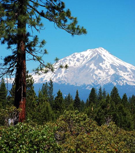 Shasta-hegy - USA  A Föld gyökércsakrája egy a Siera Nevada hegység északi részén található kialudt vulkán, a Shasta-hegy. A legenda szerint gyógyító energiáit annak köszönheti, hogy Csendes-óceánba süllyedt ősi, spirituális beállítottságú civilizáció, Lemúria túlélői ide menekültek.