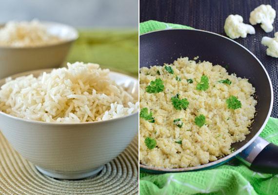 A rizs szénhidráttartalma is igen magas, a fehér rizs pedig tápanyagokban sem túlzottan gazdag - ellentétben barna társával. Kevésbé káros ugyan a hatása, mint az eddig felsoroltaknak, de ha fontos az egészséged, adj a testednek több tápanyagot, vitamint. Remek alternatíva lehet a karfiolrizs, de más, egészségesebb köretet is választhatsz: például hajdinát vagy kölest.