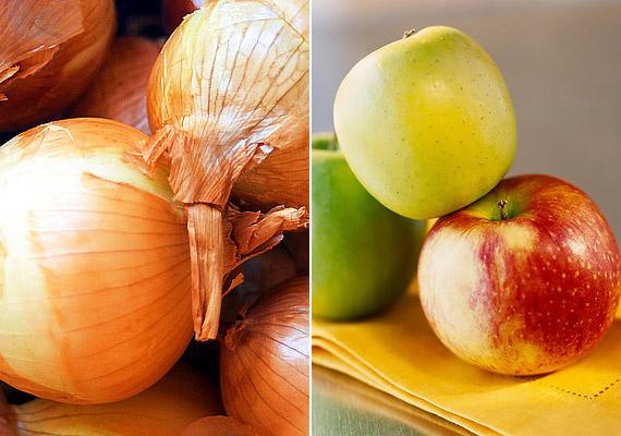 Az almában és a hagymában - de az áfonyában is - megtalálható egy kvercetin nevű hatóanyag, amely erős gyulladáscsökkentő tulajdonságával segít orvosolni az izomlázat. A vegyület ezen kívül az allergiás megbetegedések tüneteit is enyhíti.