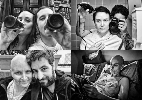 Angelo Merendino fényképész megrendítő fotósorozatban örökítette meg felesége, Jennifer mellrákkal vívott küzdelmét, illetve a kemoterápia romboló hatását. Sajnos azonban harcot 2011-ben elvesztették. A fotós oldalát itt nézheted meg.